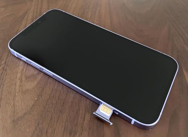 SIMカード挿入