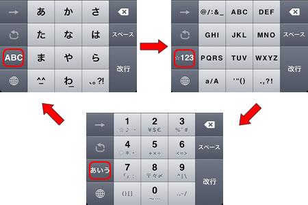 日本語テンキー切り替え画面