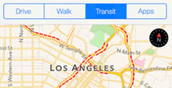 iOS 9のマップアプリ、乗換案内追加もスタート時は一部都市に限定か