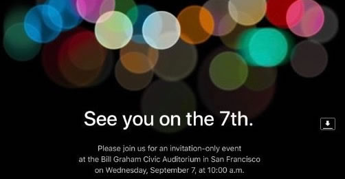 ประกาศจาก Apple พบกันในงานวันที่ 7 หรือ พบกับ iPhone 7